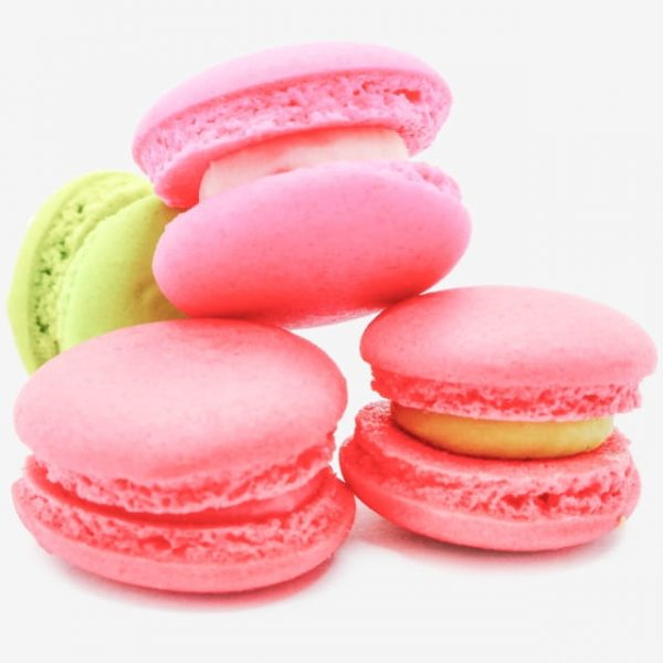 Mini Macarons Or Macaroons With Colorful Sweets Foods French Sweetmeat French Desserts (Turbo Premium Space)