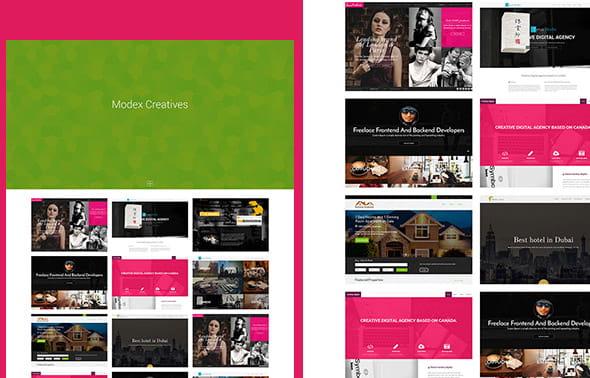 Modex Bootstrap portfolio theme