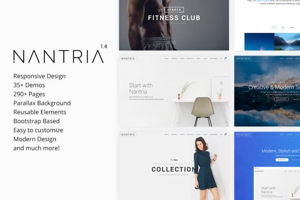 Nantria - Multipurpose Responsive HTML5 Template