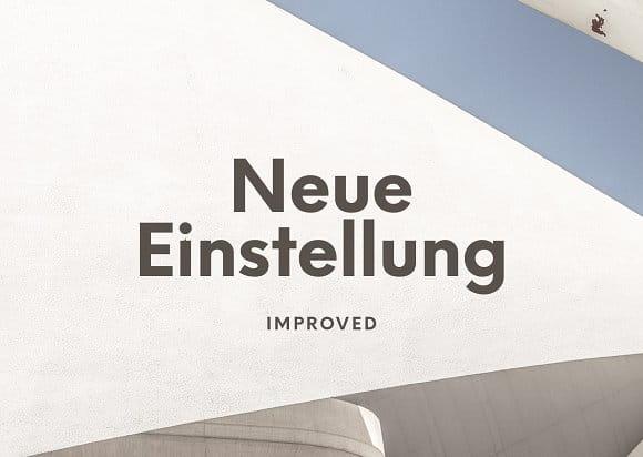 Einstellung Typeface
