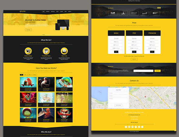 Pluton – Single Page Bootstrap Template