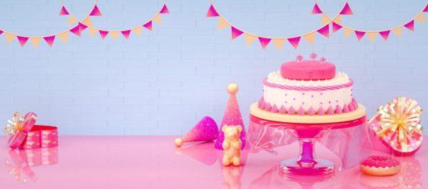 C4d Sweet 520 Cake Donut Gift Box Cute Background (Turbo Premium Space)