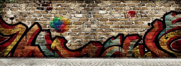 Cartoon Hip Hop Photo Wall Wall Painting (Turbo Premium Space)