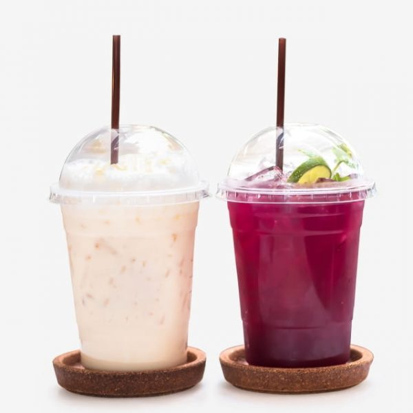 Mix Ice Beverage Iced Honey With Milk Tea And Herbal Tea Butterfly Pea Flowers In A Glass (Turbo Premium Space)