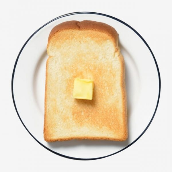 Piece Of Toasted Bread In A Plate (Turbo Premium Space)