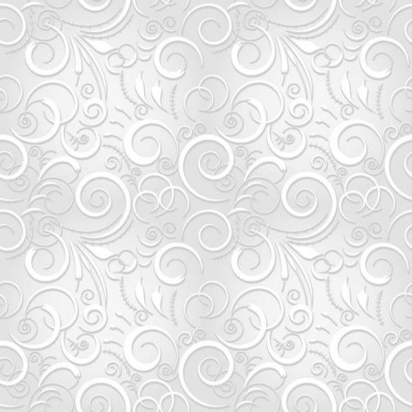 White Festive Seamless Pattern