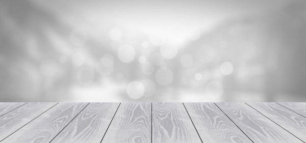 Wooden Board Empty Table With Blur Background (Turbo Premium Space)