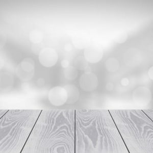 Wooden Board Empty Table With Blur Background