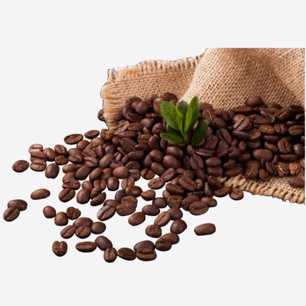 Yellow Woven Bag Of Coffee Beans