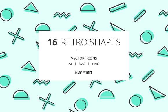 90s inspired Retro Shape Icons