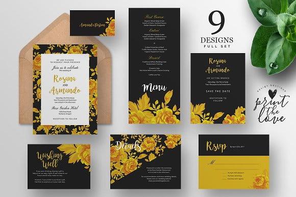Wedding Invitation Suite - Rosana