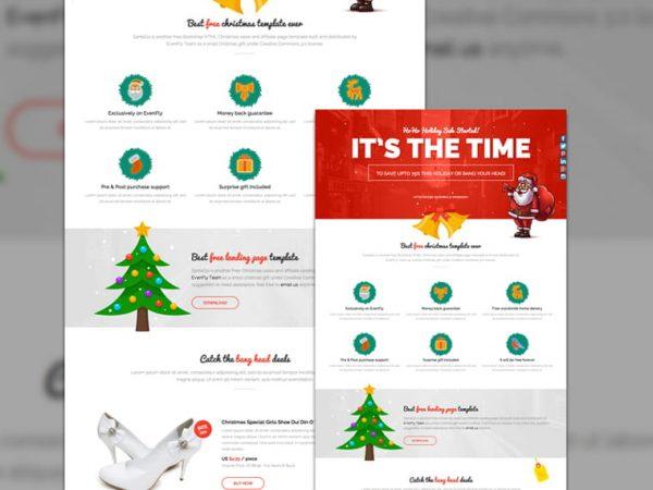 SantaGo - Christmas Landing Page Template