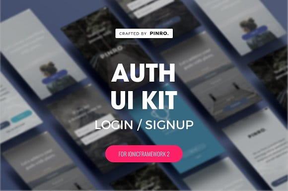 Auth UI Kit - Ionic 2 Theme