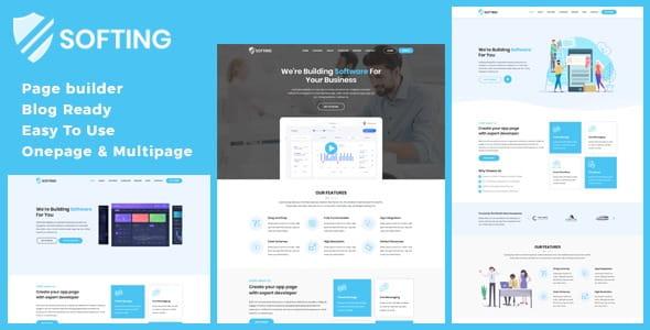 Softing - Software Landing Page WordPress Theme