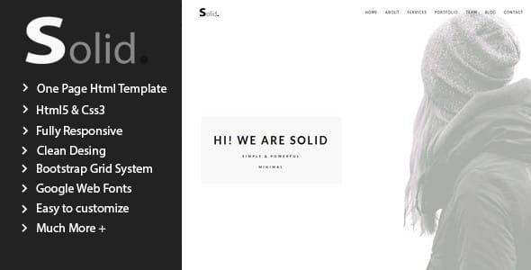 Solid – Responsive Multipurpose Template