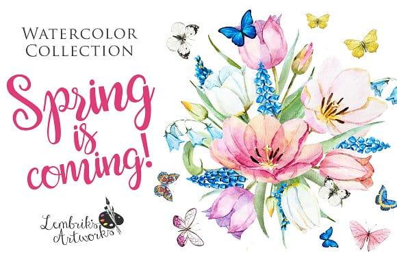 Spring is coming! Gentle watercolors