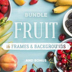 Fruit. 16 frames & backgrounds