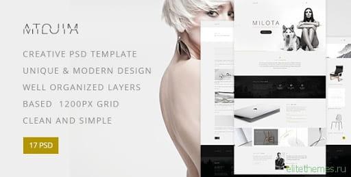 Milota — Modern Personal/Studio Portfolio and Blog